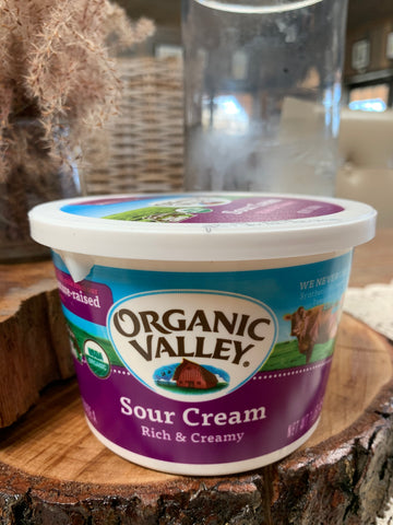 Dairy, Organic Valley, Sour Cream,Full Fat,16oz