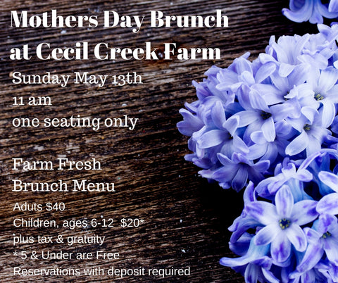 Mothers Day Brunch at the Farm