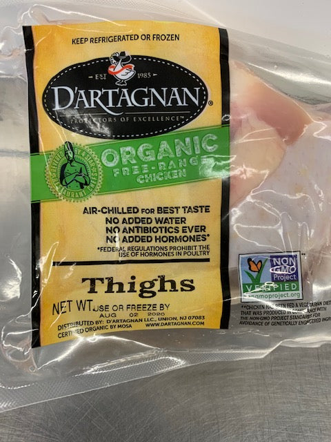 Meat, D'Artagnan Chicken Thighs, 2 per pack