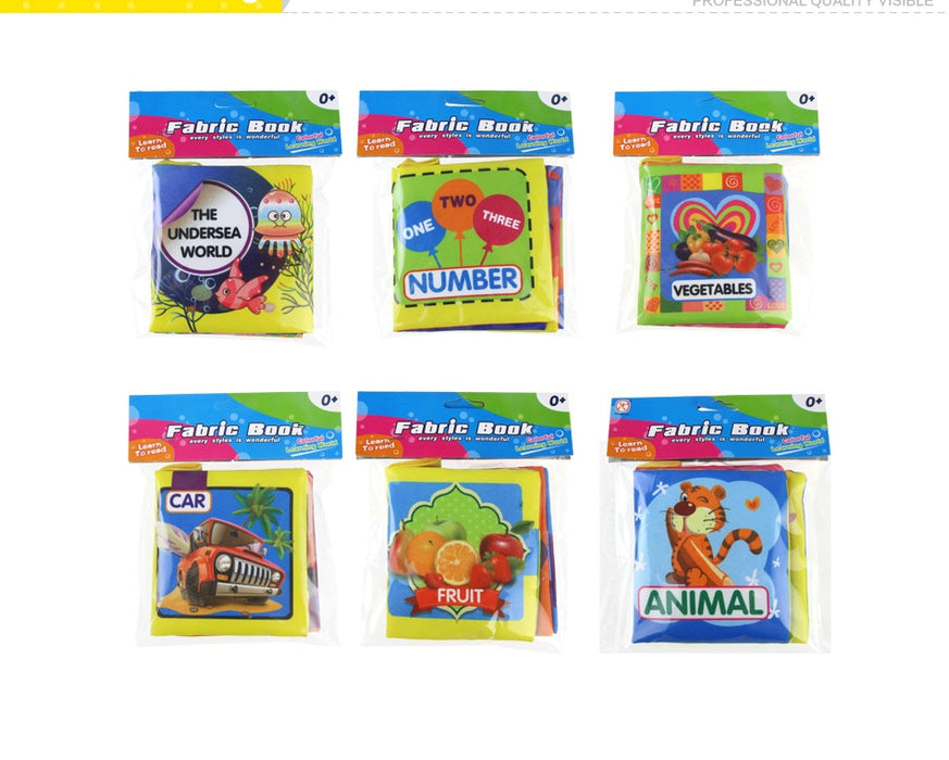 Kid's Animal Stroller Rattle Soft Cloth Books - Challenger Gadgets