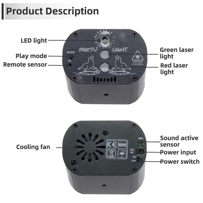 RGB LED Disco Light - Challenger Gadgets