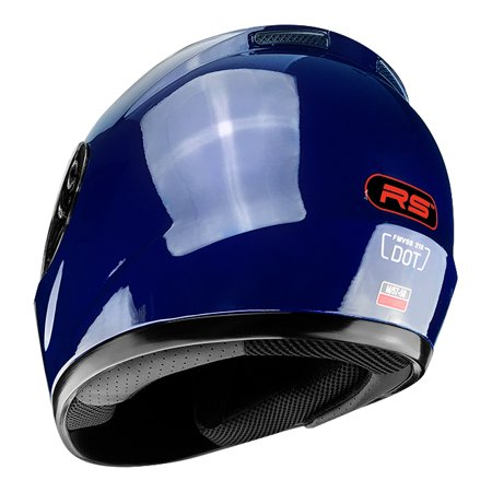 Full Face Motorcycle Helmet With Flip Up Visor Gloss Blue - Challenger Gadgets