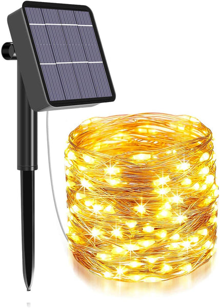 Solar Powered Fairy Starry String Light - 24 Meter 240 LED's (Warm White)