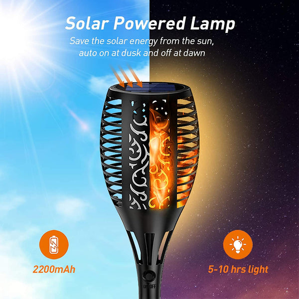 Solar Flame Mashaal Torch Outdoor Garden Light Waterproof LED