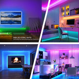 RGB LED Strip Light With 44 Key IR Remote Controller & Power Supply - 5 Meter