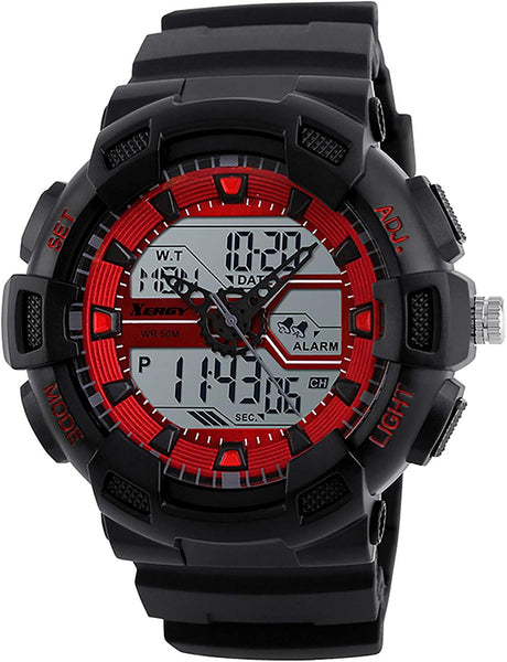 Heavyweight Analog Digital Watch Three Time Zone (5002-2)