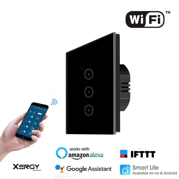 3 Gang Smart WiFi Light Switch Work with Alexa Google Assistant (Pack of 1)