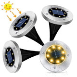 Solar Ground Lights, LED Solar Powered Deck Lights (Pack of 4)