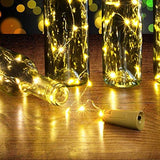 Fairy String Light Cork Shaped Warm White Bottle Light (Pack of 4)