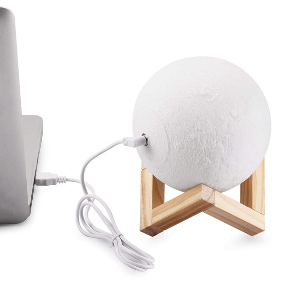3D Moon Lamp 10 cm with Touch Control 2 Colors (Pack of 1)