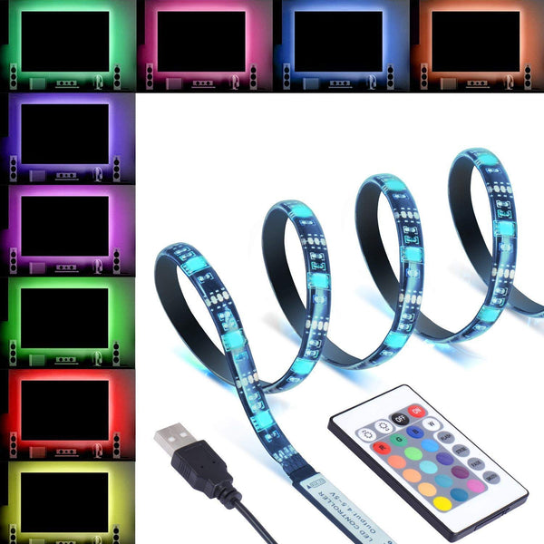 RGB 5050 5V USB Powered Flexible LED Strip Light Multi Color TV Back Light (3 Meter)