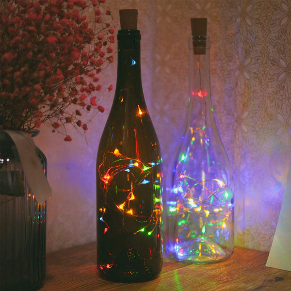 Fairy String Light Cork Shaped Multi Color Bottle Light (Pack of 3)
