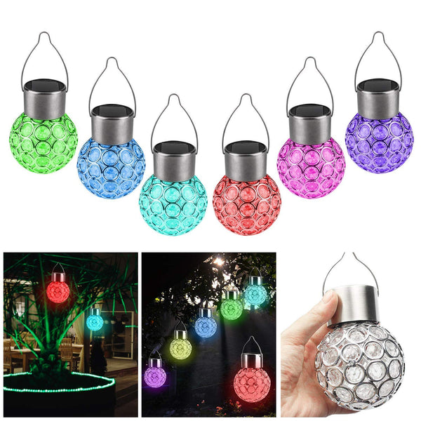 Solar Hanging Lights, 7 Color Changing Globe Lantern (Pack of 1)