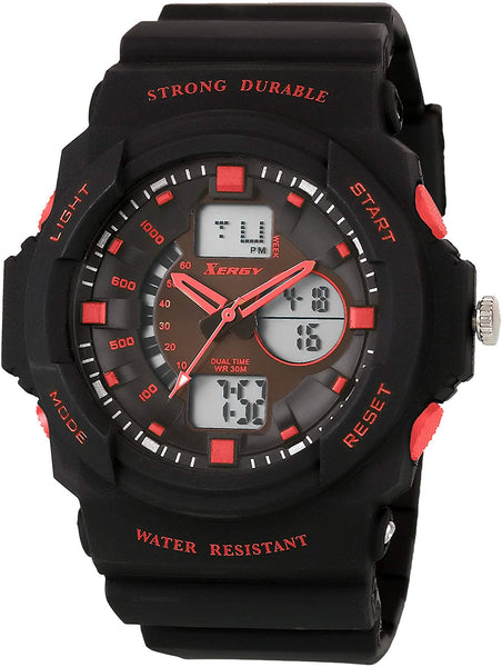 Analogue Digital Multi Color Sports Watch For Boys (8217-4)