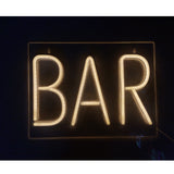 Neon Light Wall Art Sign BAR Shaped (Pack of 1)