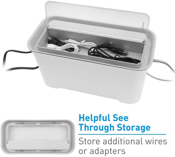 Cable Management Box Organizer with Storage & Ventilation (Pack of 1)