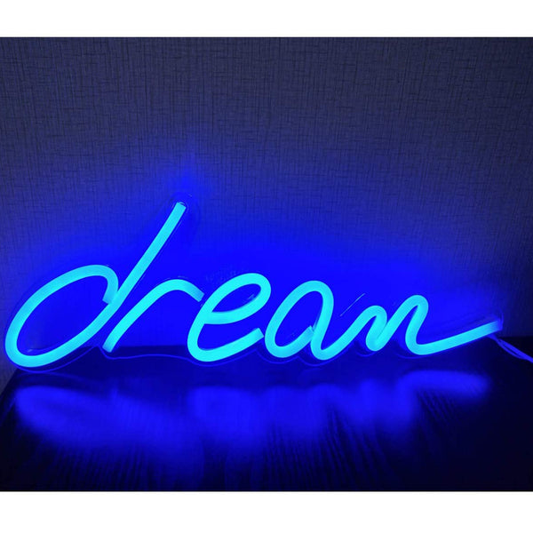 Neon Light Wall Art Sign Dream Shaped (Pack of 1)
