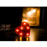Marquee Light Heart Shaped Red Color (Pack of 1)