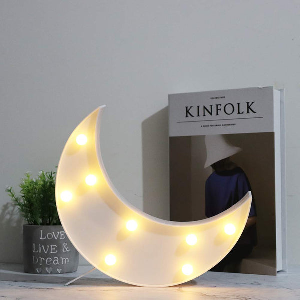 Marquee Light Moon Shaped White Color (Pack of 1)