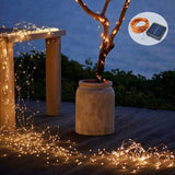 Solar Powered Fairy Starry String Light, 39 ft-12 meter LED Copper Wire Lights, Warm White (Pack of 1)