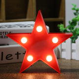 Marquee Light Star Shaped Red Color (Pack of 1)