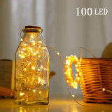 USB Powered Fairy Starry String Light 10 M 100 LED's Light Waterproof Warm White 8 Mode Settings (Pack of 1)