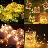 Starry String Light Warm White Battery Powered Button Light (Pack of 4)