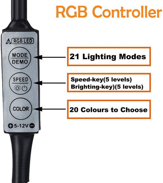 3 Key RGB Controller for 1 Meter Strip Light