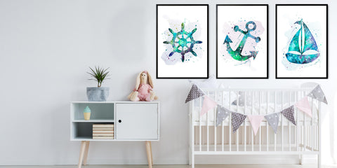 The Nautical Nursery Art Collection