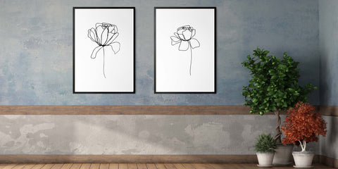 The Flower Line Drawing Collection