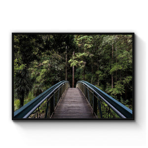 Woodland Bridge Landscape Photograph Wall Art - The Affordable Art Company