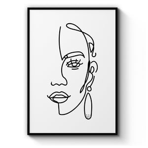 Sultry Minimal Abstract Fashion Bedroom Wall Art - The Affordable Art Company