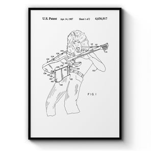 Vintage Guitar Patent Music Wall Art - The Affordable Art Company