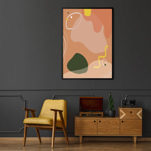Set of Modern Abstract Shape Minimal Wall Art - The Affordable Art Company