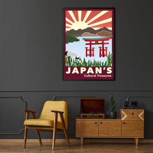 Vintage Japan Tourism Advert Wall Art - The Affordable Art Company