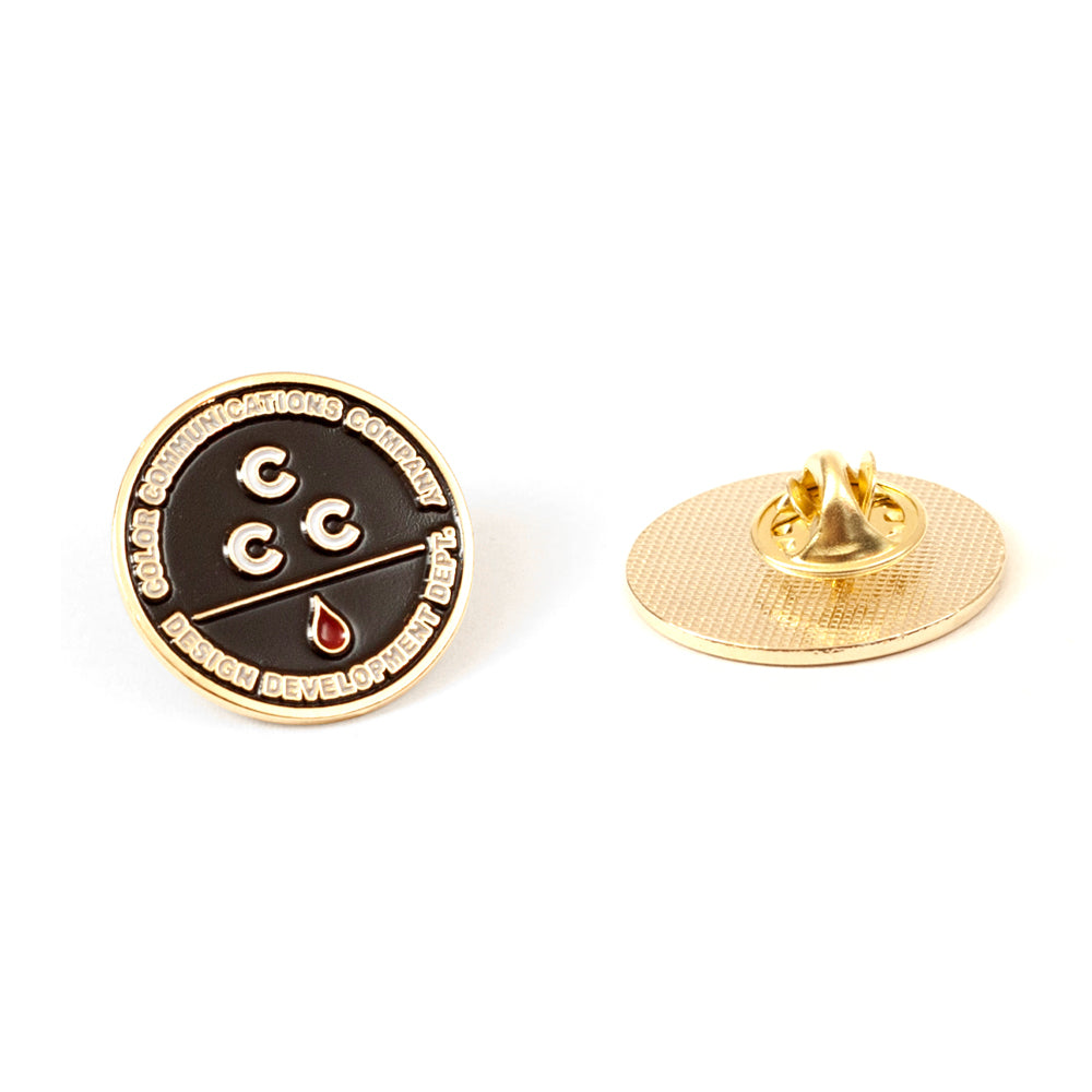 "COLOR COMMUNICATIONS - CCC PIN BADGE ""Gold"""