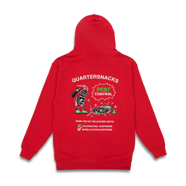 "QUARTERSNACKS  - Pest Control Hoody ""Red"""