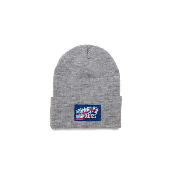 "QUARTERSNACKS  - Rubber Label Beanie ""Grey"""