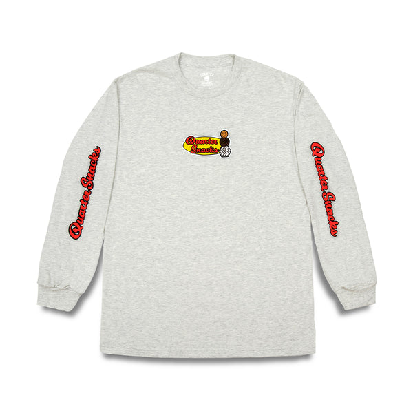 "QUARTERSNACKS  - Middle School L/S Tee ""Ash Grey"""