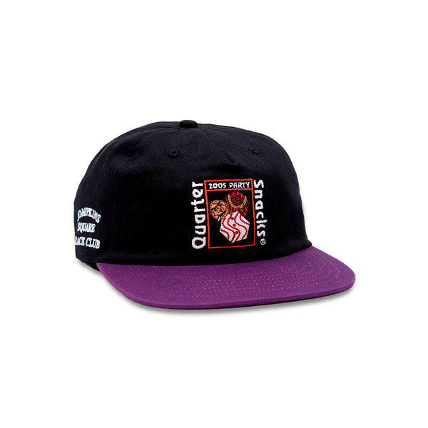"QUARTERSNACKS  - Party Cap ""Black / Purple"""