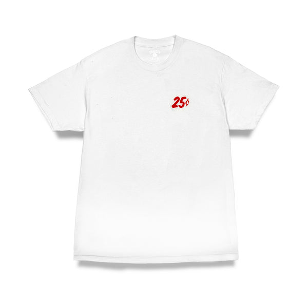 "QUARTERSNACKS  - Classic Snackman Tee ""White"""
