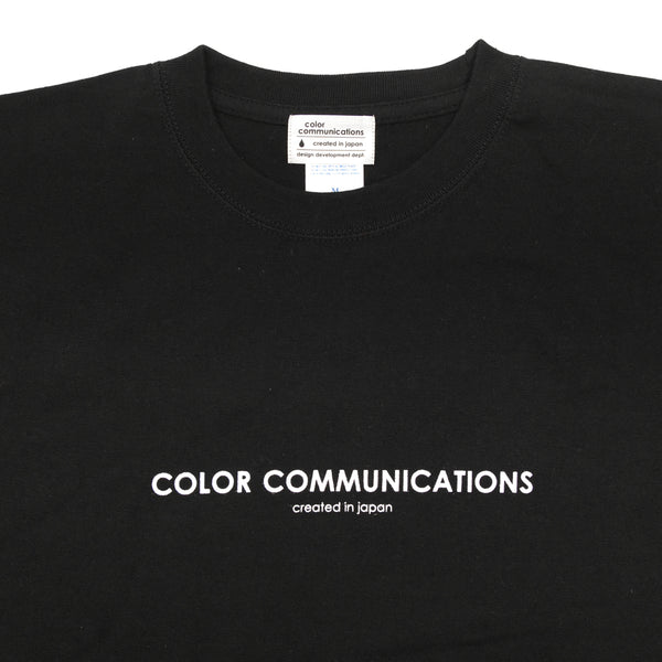 "COLOR COMMUNICATIONS - HP HEADER L/S TEE ""Black"""