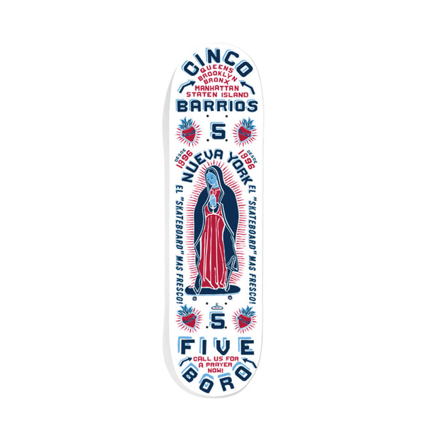 "5BORO - Cinco Barrios  ""White""  8"" / 8.5"""
