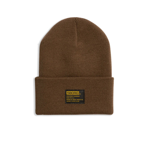 "5BORO - 5B Tactical Beanie ""Copper Brown"""