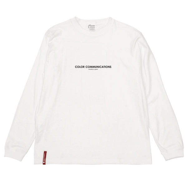 "COLOR COMMUNICATIONS - HP HEADER L/S TEE ""White"""