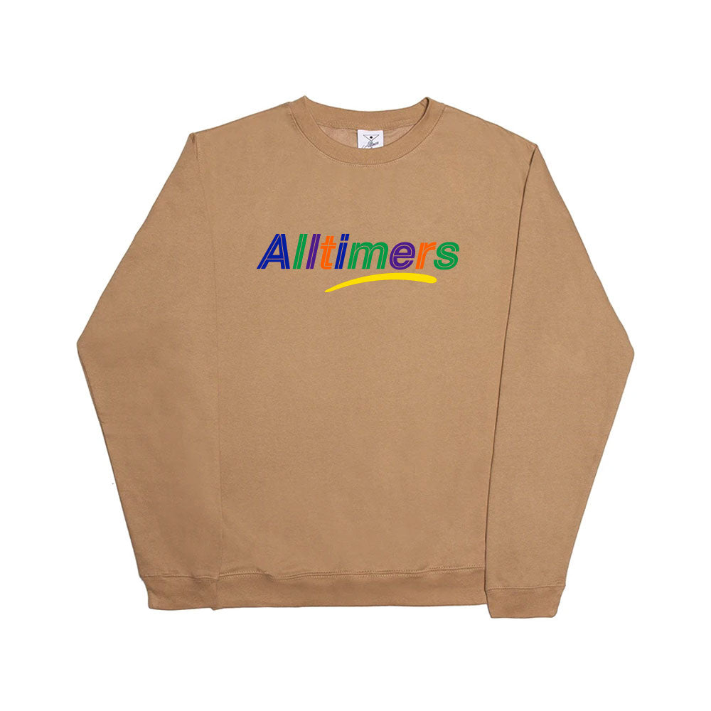 "ALLTIMERS - Embroidered Estate Crew ""Sandstone"""