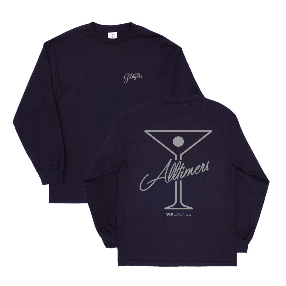 "ALLTIMERS  - League Player Long Sleeve ""Navy"""