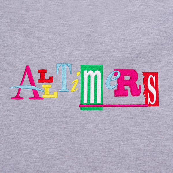 "ALLTIMERS - Embroidered Sin Good Hoody ""Heather Grey"""