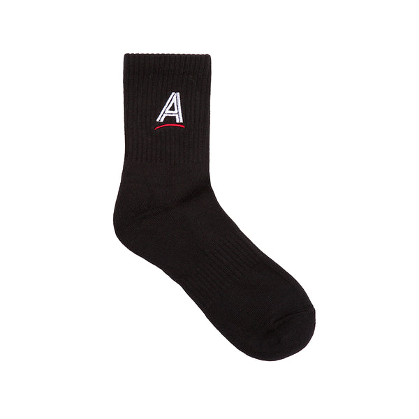 "ALLTIMERS - Estate Embroidered Sock ""Black"""