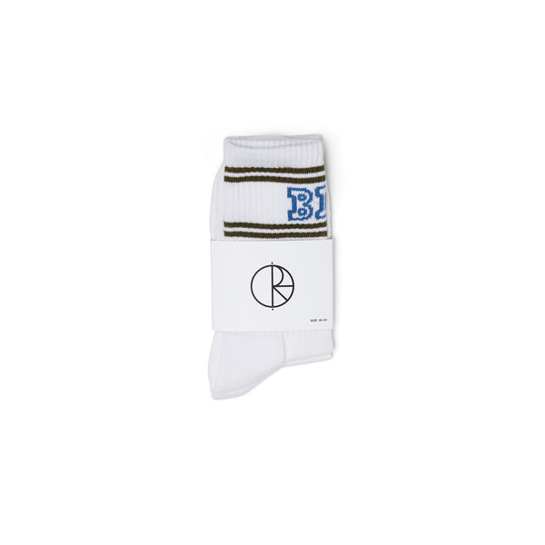 "POLAR - Big Boy Socks ""White / Army / Blue"""